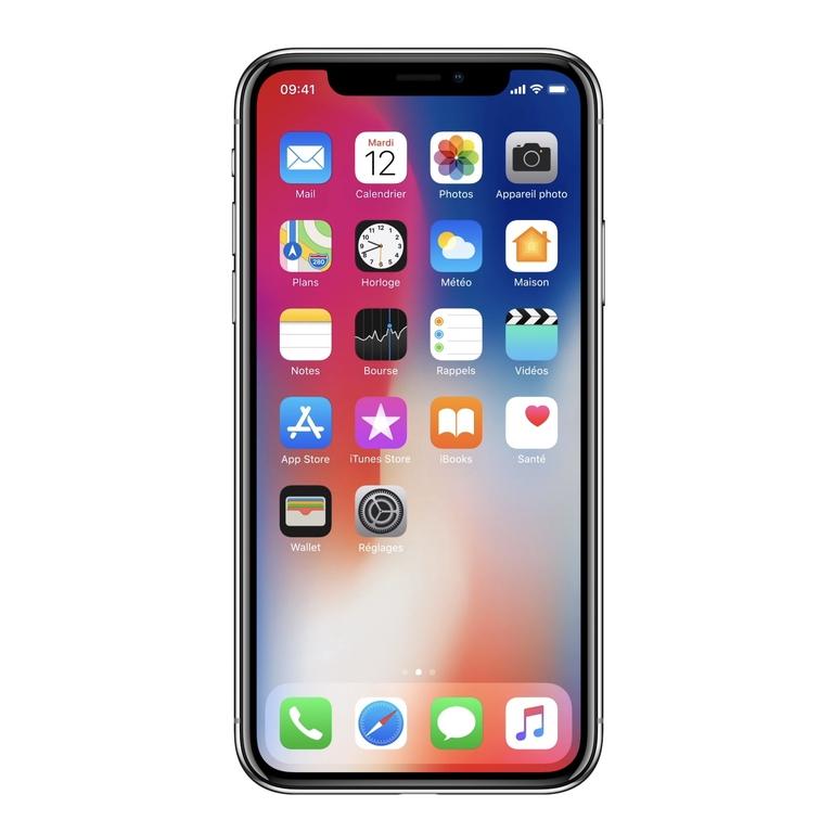 face avant de iphone X verre
