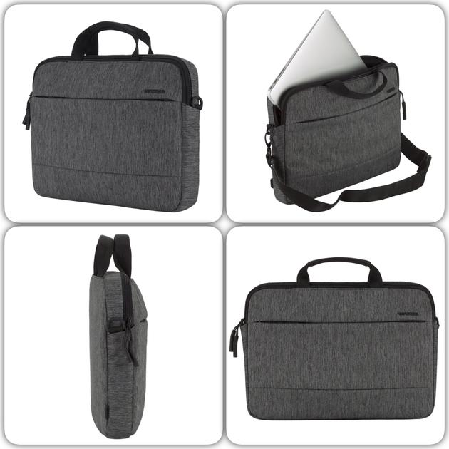 mixage Sacoche de transport 12 a 13 pouces Portable et MacBook  City Gris