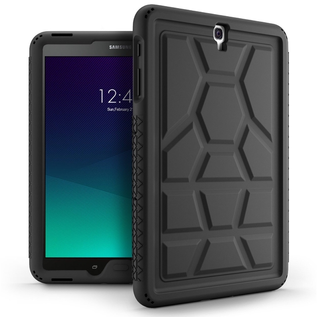 dos Coque Galaxy TAB S3 9.7 pouces Silicone renforce premium Noir