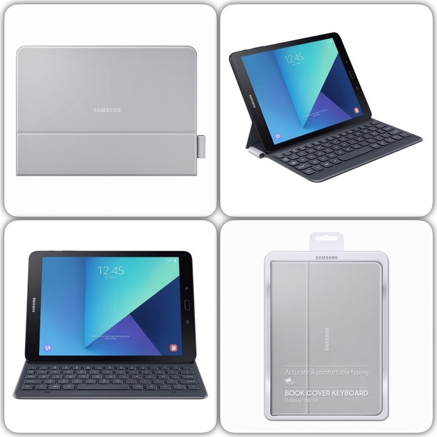 mix TAB S3 9.7 pouces Keyboard Cover Gris