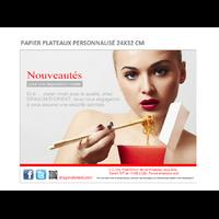 PAPIER PLATEAUX PERSONNALISÉ 24X32 CM