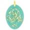 Orgonite Pendentif Ovale Turquoise