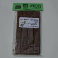Chocolat bio lait PRALIN