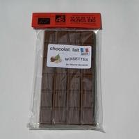 Chocolat bio lait NOISETTES