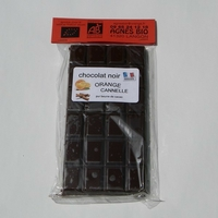 Chocolat  bio noir ORANGE CANNELLE