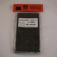 Chocolat bio noir EXTRA 90% de CACAO