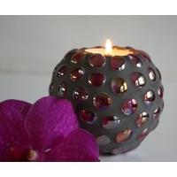 Bougeoir Violet-Gris pour bougie chauffe-plat
