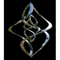 Mobile Hélicoïdale Double Torsade chromée