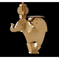 Maquette Eléphant solaire en bois plus ballon