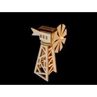 Maquette MINI EOLIENNE des CHAMPS solaire en bois