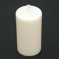 Bougie blanche ronde petite en cire de soja