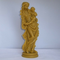 Statue Vierge à l'Enfant en cire d'abeille