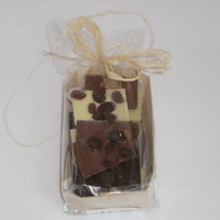 Mendiants chocolat bio panaché barquette 100gr