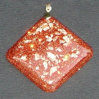 ORGONITE Losange Orange