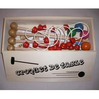 Jeu de croquet de table en bois