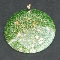 ORGONITE Grand médaillon  Vert