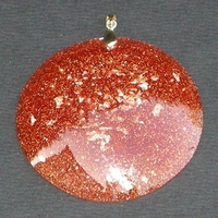 ORGONITE Grand médaillon Orange