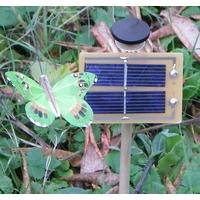 PAPILLON  solaire Vert 7cm Socle incliné
