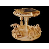 Maquette motorisée de Manège solaire en bois