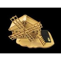 Maquette CHALET MOULIN solaire en bois