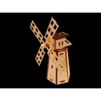 Maquette en bois a monter de Mini Moulin solaire