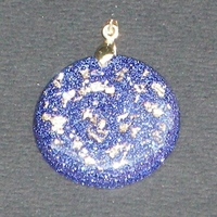 ORGONITE petit médaillon Bleu-nuit