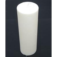 Bougie blanche ronde colonne en cire de soja