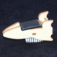 Maquette en bois à monter de Mini Fusée Solaire