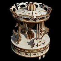 Maquette en bois à construire de Carrousel Solaire