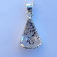 Pendentif Argent quartz dentrite