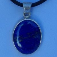 Pendentif Argent Lapis Lazuli ovale