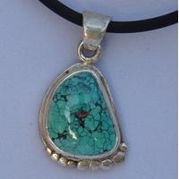 Pendentif Argent Turquoise d'Arizona