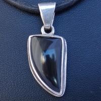 Pendentif Argent pierre Obsidienne