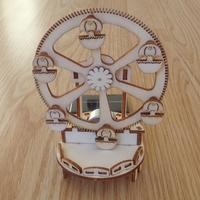 Maquette Petite Roue Solaire en bois