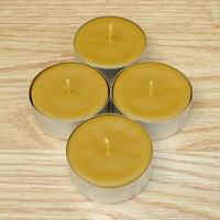4 bougies chauffe-plats géants en cire d'abeille