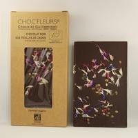 CHOCOLAT BIO NOIR AUX FEUILLES DE CASSIS