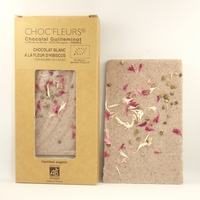 CHOCOLAT BIO BLANC A LA FLEUR D'HIBISCUS