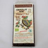 CHOCOLAT NOIR BIO AUX NOISETTES
