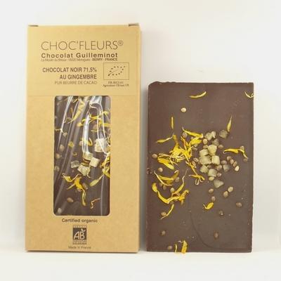 Chocolat-bio-noir-71,5%-au-gingembre