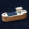 Maquette de bateau en bois à monter - Mini Péniche Solaire
