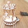 Maquette Mini Carrousel solaire en bois