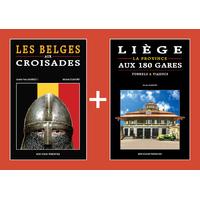 PACK PROMO NOËL - Belges aux croisades + Liège aux 180 gares