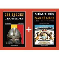 PACK PROMO NOËL - Belges aux croisades + Mémoires du pays de Liège