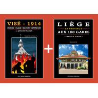 PACK PROMO NOËL - Visé 14-18 + Liège aux 180 Gares