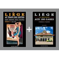 PACK PROMO NOËL - Liège au temps des Sixties 2 + Liège aux 180 gares