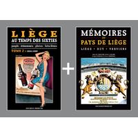 PACK PROMO NOËL - Liège au temps des Sixties 2 + Mémoires du Pays de Liège