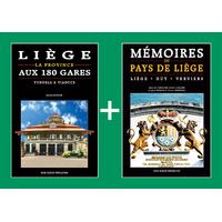 PACK PROMO NOËL - Liège aux 180 gares + Mémoires du Pays de Liège