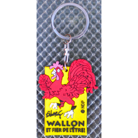 Porte clef Coq Wallon flexible