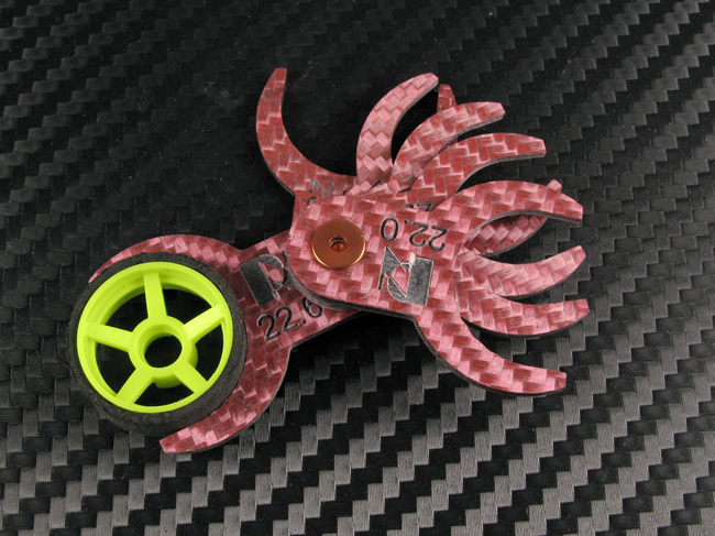Jauge de mesure des pneus tailles 22 à 23 mm