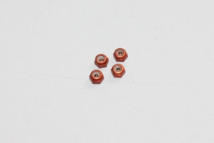 Ecrous de roues en alu Orange PN Racing